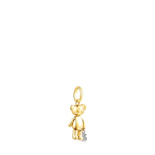 Small Gold Teddy Bear Pendant with Diamonds – Limited edition
