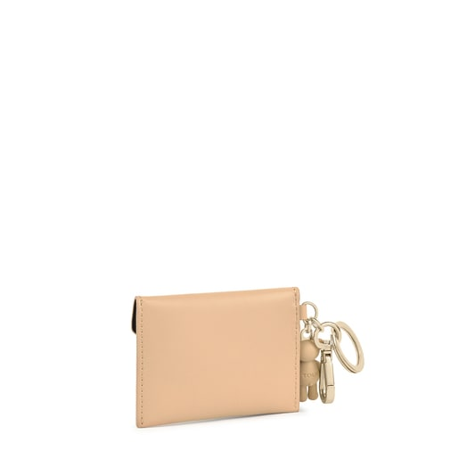 Llavero con mini neceser Tous Envelope beige