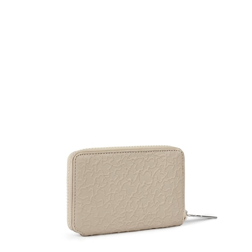 Small beige leather Sira wallet