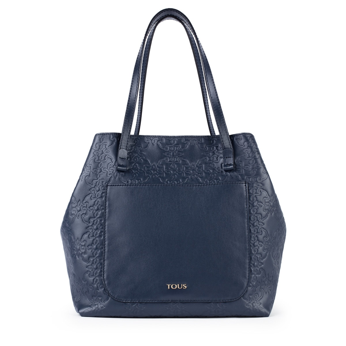 6eba451ff0 Large navy colored Leather Mossaic Tote bag - Tous Site US