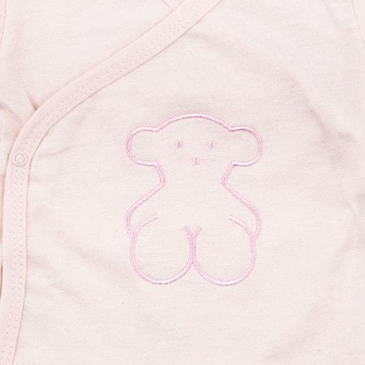 Camisola de maternidade cruzada Rise rosa