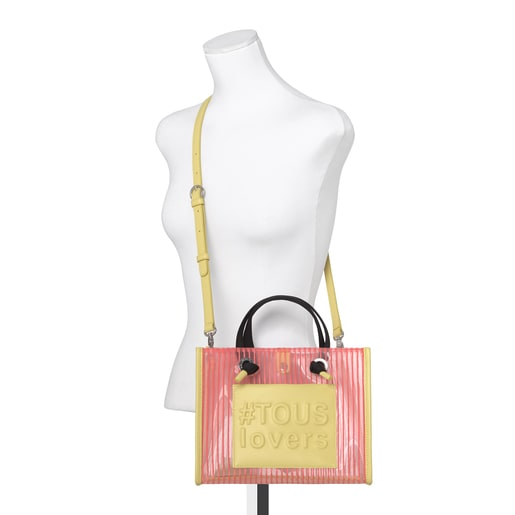 Medium Coral Amaya Shopping Bag