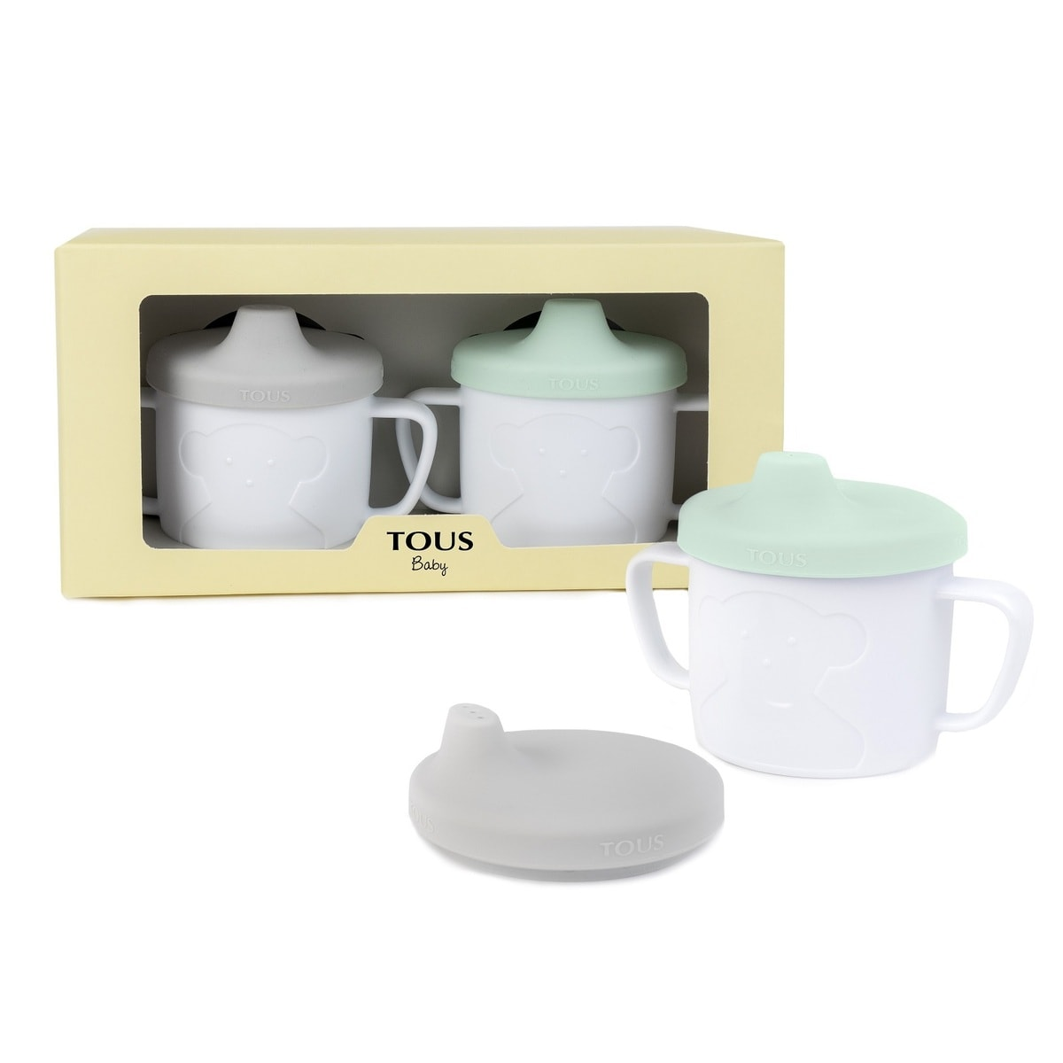 Cup Bear baby cup set in green