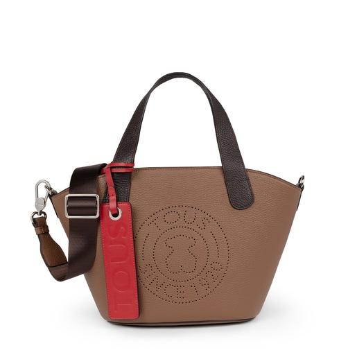 Bolsa shopping pequeño Leissa de Piel en color marrón