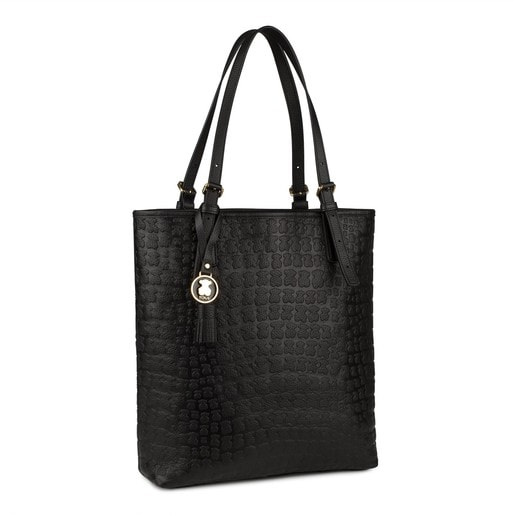 Black Leather Sherton Shopping bag