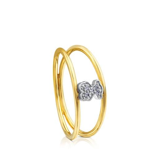 Ring Puppies aus Weißgold