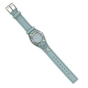 Rellotge Lollipop d'acer amb corretja de pell blau