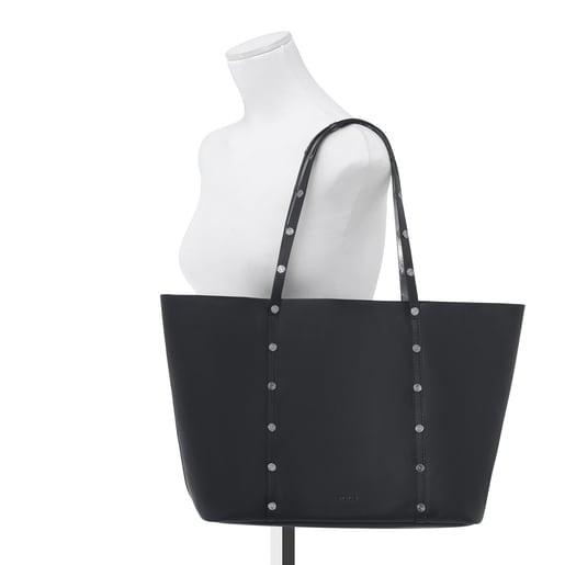 Shopping Atelier de piel negro-plata