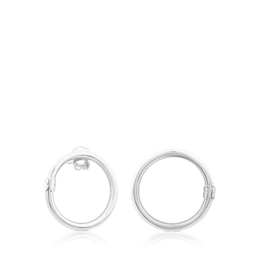 Große Ohrringe Hold aus Silber