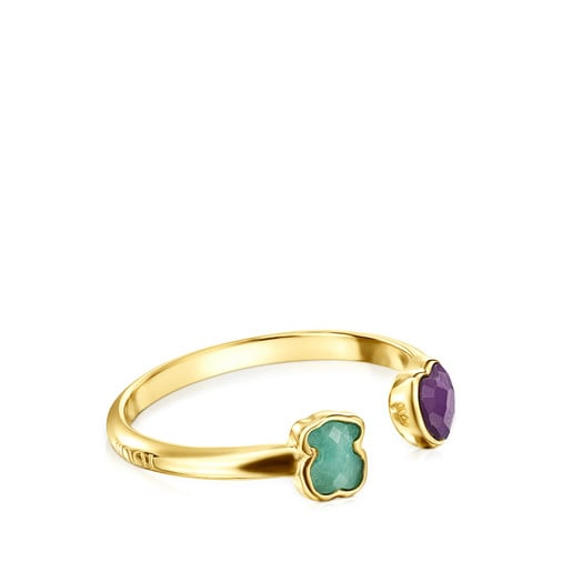 Glory Ring in Silver Vermeil with Amazonite and Amethyst