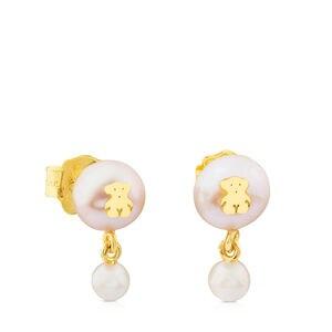 Arracades Icon Pearl d'Or amb Perla