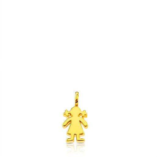 Colgante niña Sweet Dolls en oro