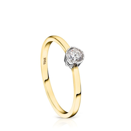 Anillo Boca Osos de Oro y Diamantes