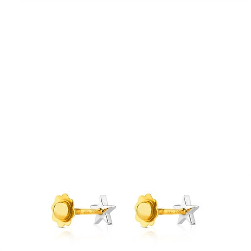 Pendientes Puppies estrella de Oro blanco y diamantes