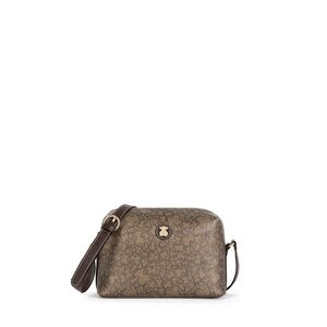e7ca378e57 Τσάντα χιαστί μεσαίου μεγέθους Kaos Mini από καραβόπανο σε καφέ χρώμα
