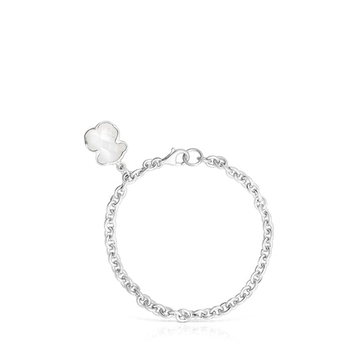 Silver and rock Crystal Sweet Dolls Color Bracelet