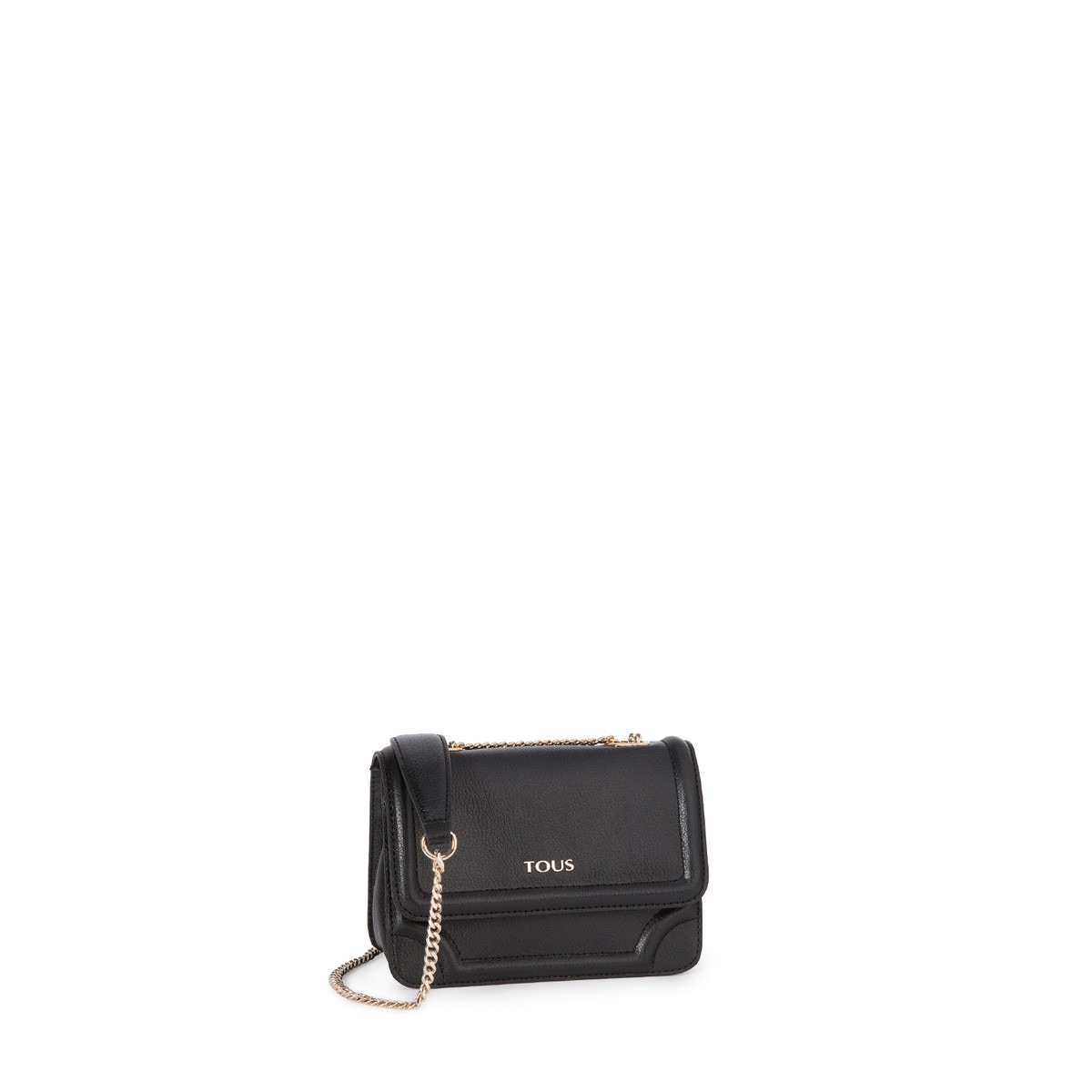 52bf7e38d Small black colored Leather Obraian Crossbody bag - Tous Site GB