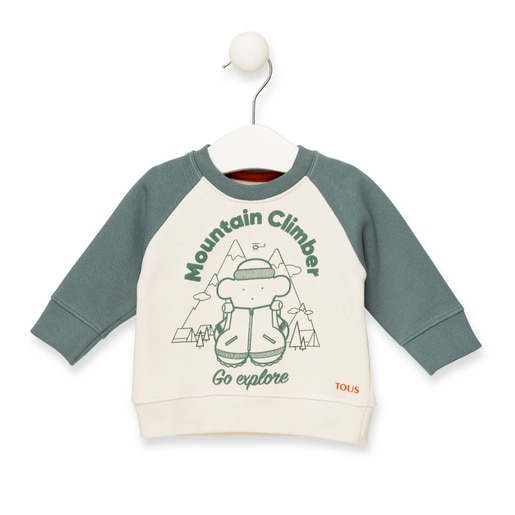 "Sweatshirt ""Mountain Climber"" Verde"