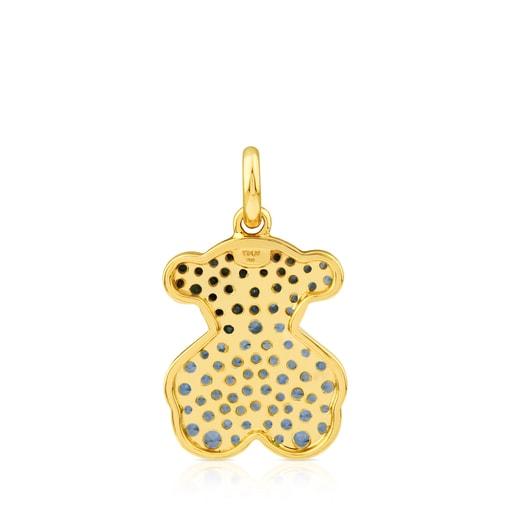 Anhänger Icon Gems aus Gold mit Saphir