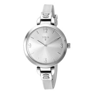 Steel Bohème Watch with white Silicone strap