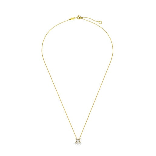 Gold with Diamond and Pearl Eklat Necklace