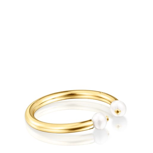 Batala Ring in Silver Vermeil with Pearl