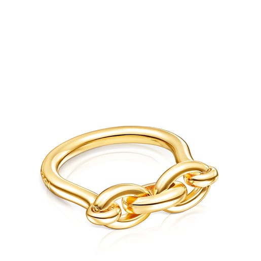 Silver Vermeil TOUS Good Vibes rings Ring