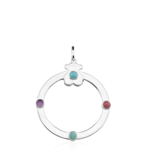 Silver Super Power Pendant with Gemstones