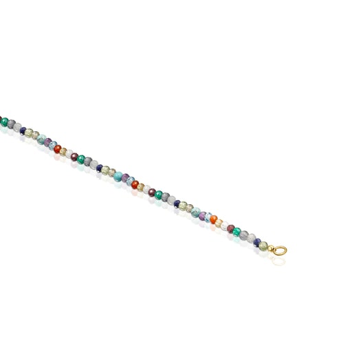 Silver Vermeil TOUS Good Vibes Choker with Gemstones