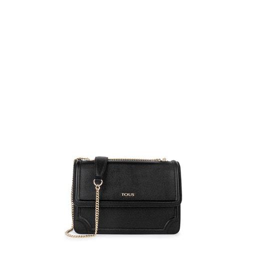 Medium black Leather Obraian Crossbody Bag