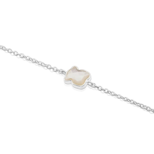 Silver TOUS Color Bracelet with faceted mother-of-pearl