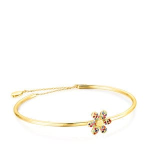 Pulsera Real Mix Bloom de Plata Vermeil con Gemas
