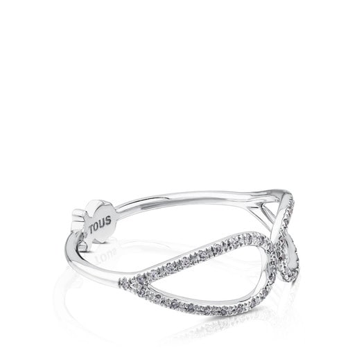 White gold with Diamonds Happy Moments Ring