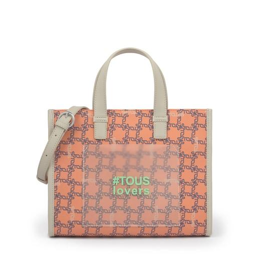 Medium Orange Amaya Logogram Shopping Bag