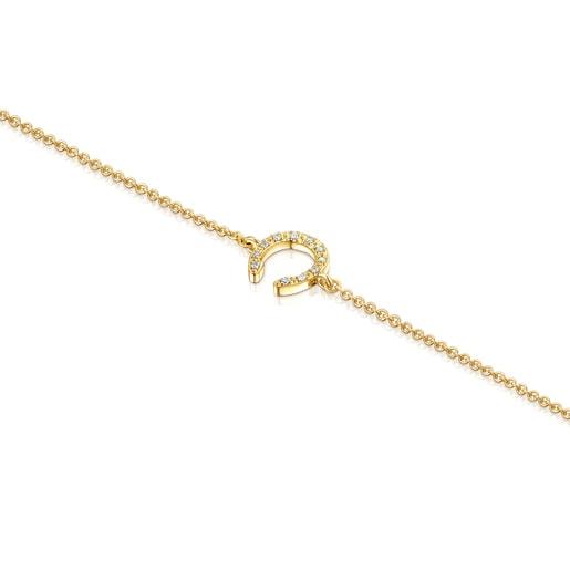 Pulsera TOUS Good Vibes herradura de oro y diamantes
