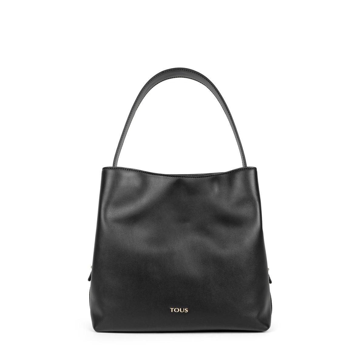 e20df7386f5c Black Leather Sibil One shoulder bag - Tous Site US
