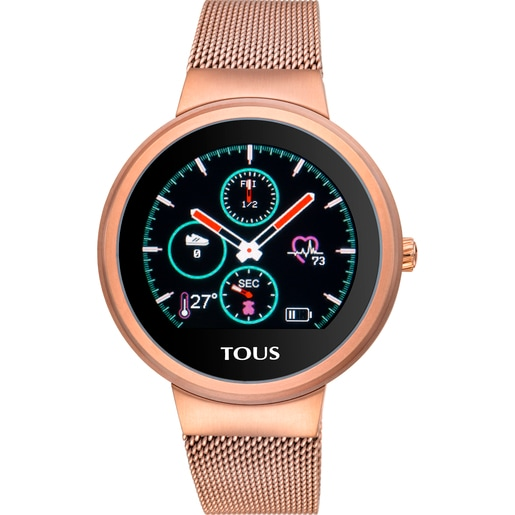 Reloj activity Rond Touch de acero IP rosado