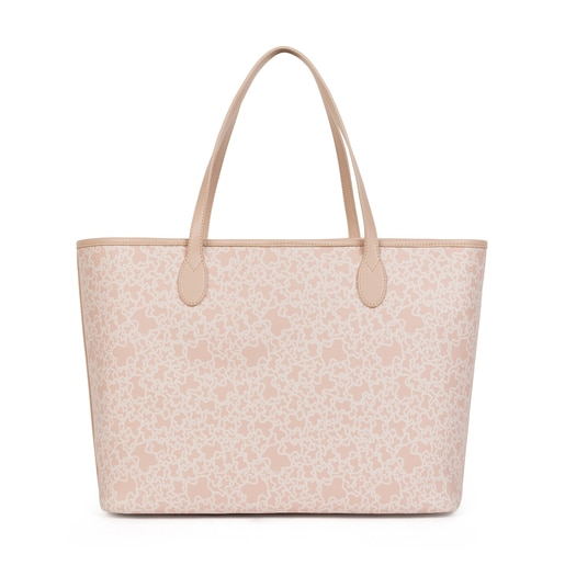 Large pink Canvas Kaos Mini Tote Bag