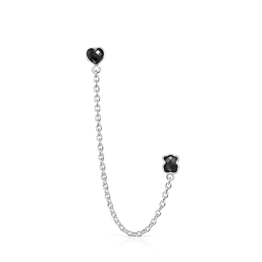 Silver with Onyx Mini Onix - Color Double Earring