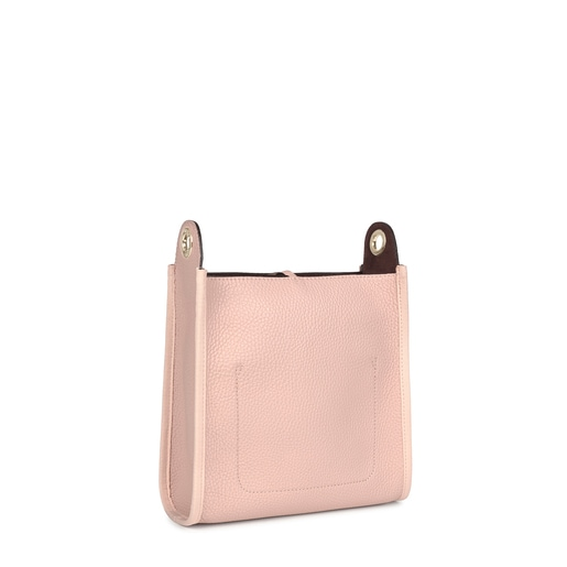Small pale pink Leather Leissa Shoulder bag