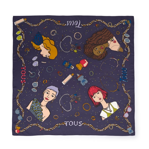 Navy Tous Tribe scarf