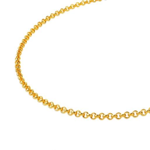 Gargantilla TOUS Chain de Plata Vermeil 40 cm