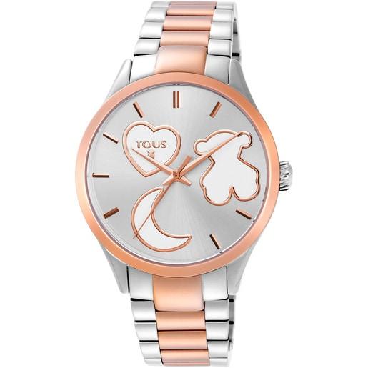 Two-tone steel/rose IP Sweet Power Watch