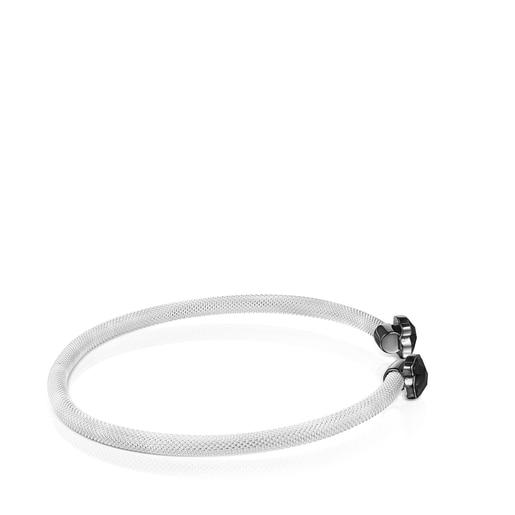 Bracelet Mesh Color étroit avec Onyx