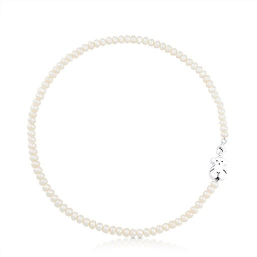Pearl Sweet Dolls Necklace with Silver