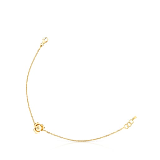 Gold Fragile Nature Bracelet with Diamonds