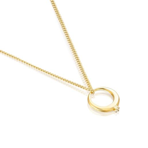 Collar Job anillo de Plata Vermeil y Topacio