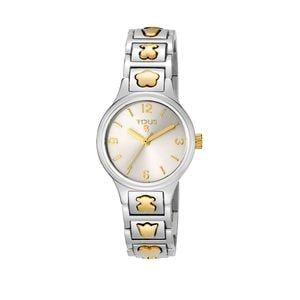 Rellotge Dolls bicolor d'acer/IP daurat