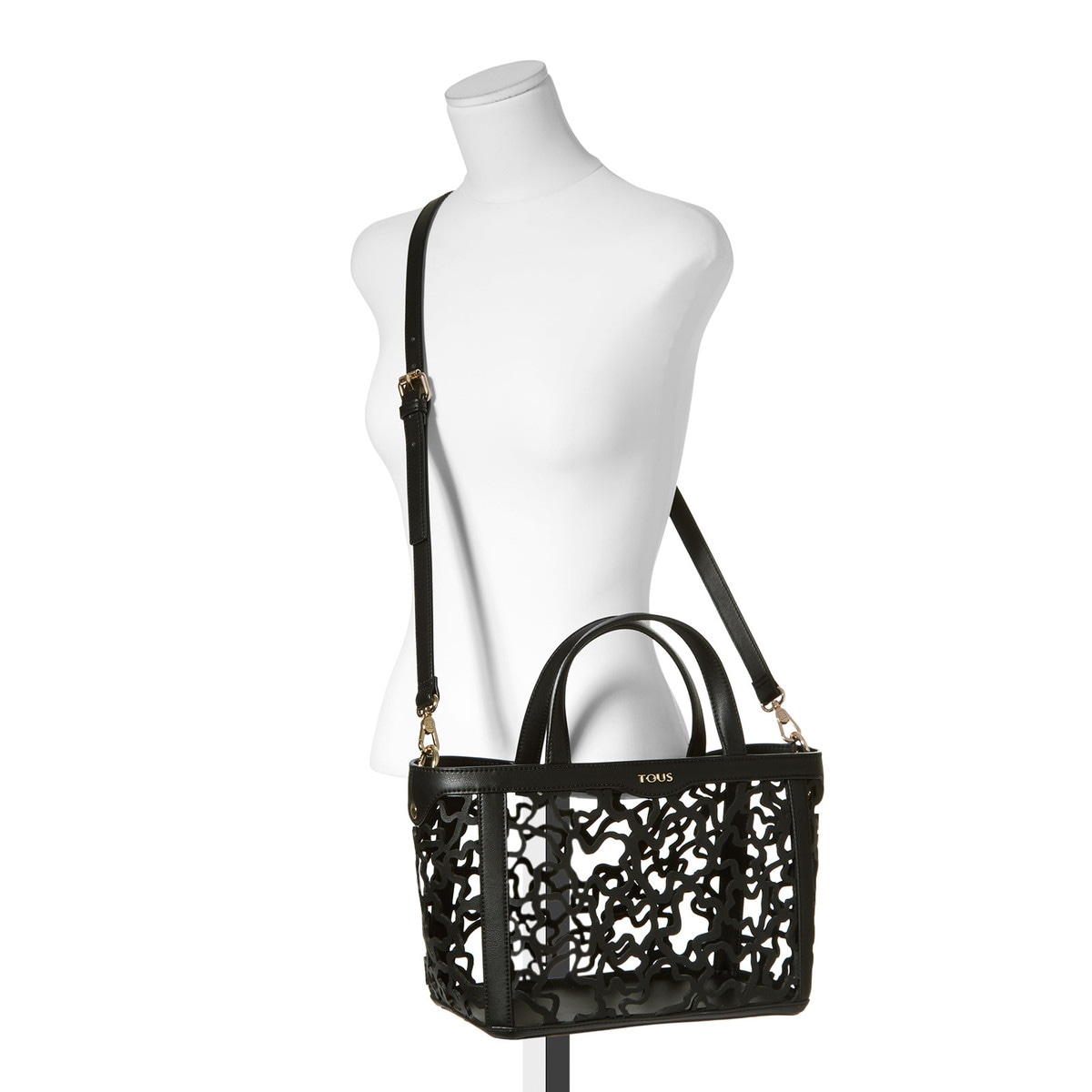 46d2c0e241 Small black colored Kaos Shock Tote bag - Tous Site US