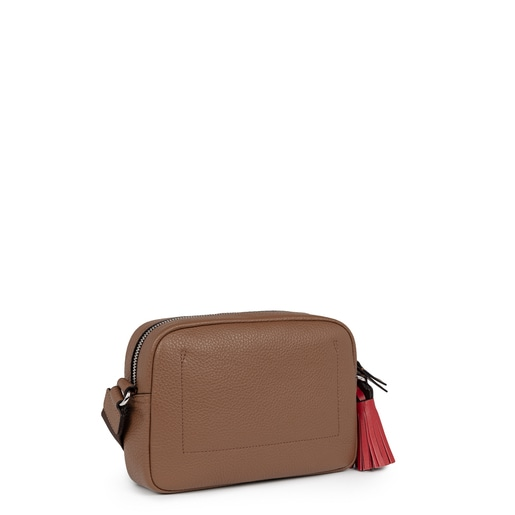 Small brown Leather Leissa Crossbody bag